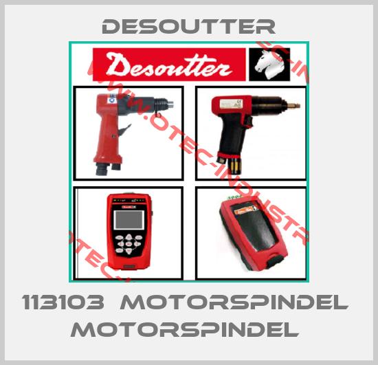 113103  MOTORSPINDEL  MOTORSPINDEL -big