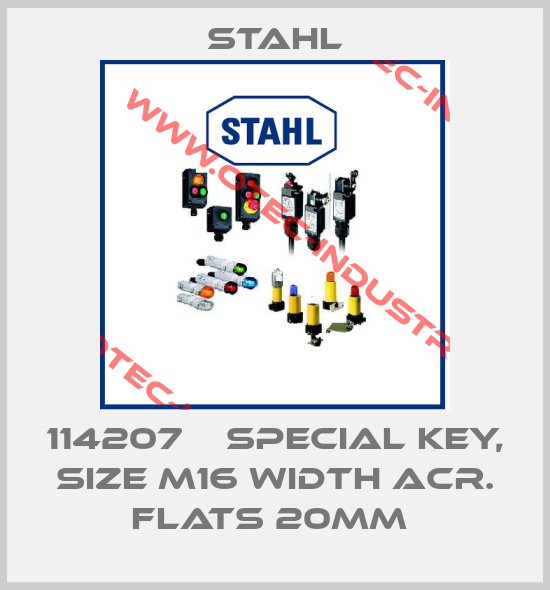 114207    SPECIAL KEY, SIZE M16 WIDTH ACR. FLATS 20MM -big
