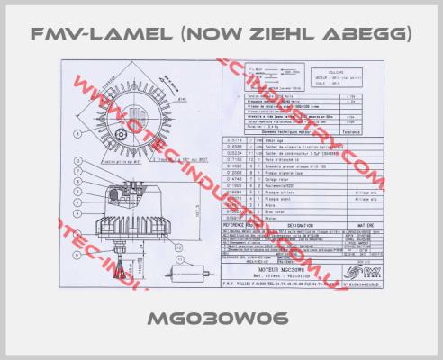 FMV-Lamel (now Ziehl Abegg)- MG030W06